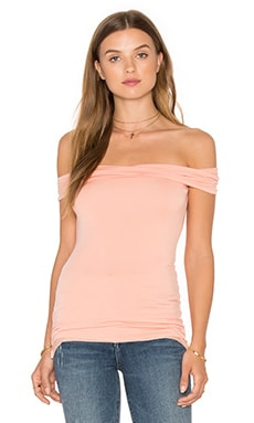 Intrinsic Harmony Off The Shoulder Top in Soft Coral