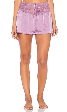 Lace Satin Short in Lavender