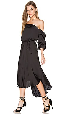 Caught Sleeve Dress in Black