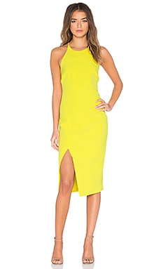 Cara Asym Dress in Yellow