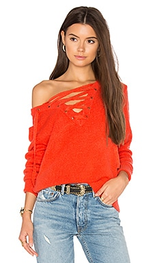 Criss Cross Sweater in Pimento