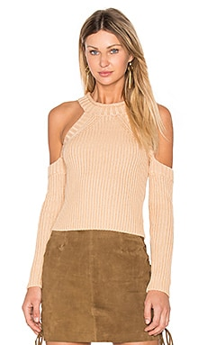 Cold Shoulder Knit in Hazelnut