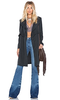 SU2C x REVOLVE Draper Trench in Black