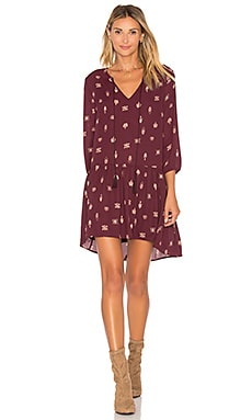 Camley Dress in Boysenberry
