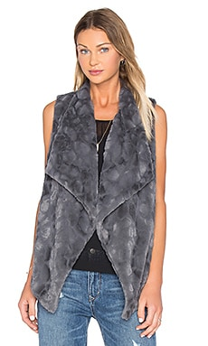 Jack By BB Dakota Cordova Faux Fur Vest in Dark Charcoal