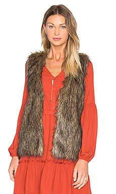 Jack By BB Dakota Belding Faux Fur Vest in Brown Multi