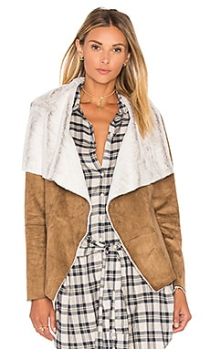Bourne Jacket with Faux Fur Lining in Camel