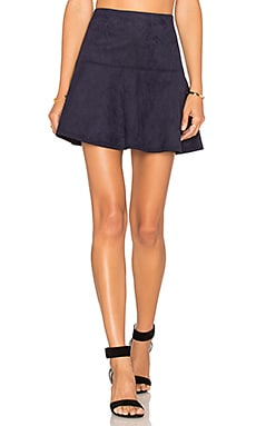 Jack By BB Dakota Abrams Skirt in Night Sky Navy