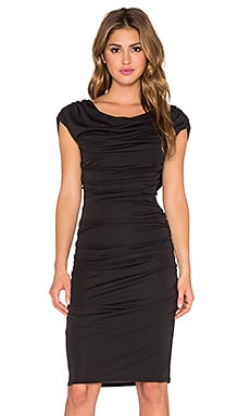 Kylia Drape Back Dress in Black