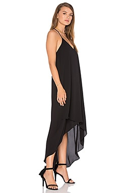 Cressidia Hi-Lo Dress in Black