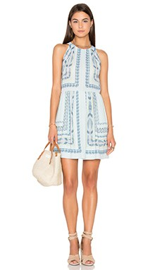 Cambria Mini Dress in Crystal Blue Combo