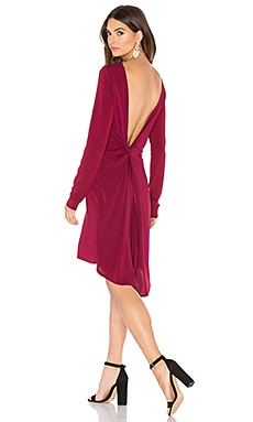 Celia Dress in Deep Cranberry