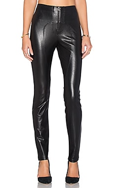 Sayer Faux Leather Moto Legging in Black
