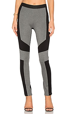 Colorblock Legging in Medium Heather Grey Black Combo