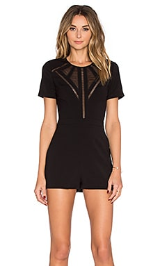 Detail Romper in Black