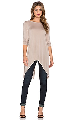 Kendi Twist Back Top in Soy Chai