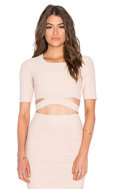 Clarissa Cutout Crop Top in Bare Pink