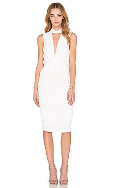 Liberty Twist Midi Dress in Ivory