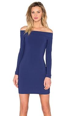 Dancing Moon Off Shoulder Dress in Regency Blue