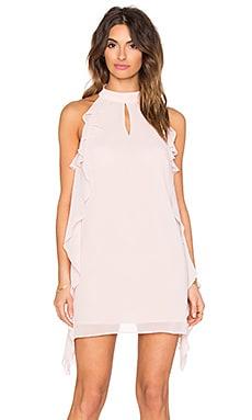 Ruffled Mini Dress in Rose Smoke