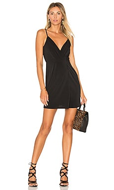 Drape Front Cocktail Dress in Black