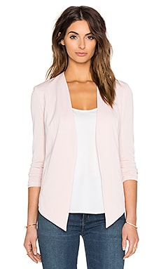 Drape Front Jacket in Rose Smoke
