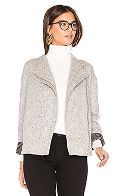 Asymmetric Zip Jacket in Whisper White