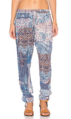 Mosaic Print Pant in Blue Multi