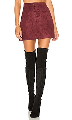 A-line Mini Skirt in Wine Red