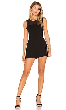 Chiffon Yoke Romper in Black