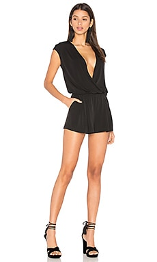 Slit Back Romper in Black Combo