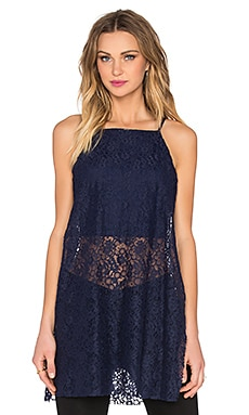 Lace Tank in Deep Blue