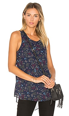 Split Back Tank in Blue Multi