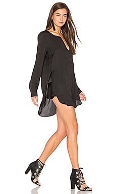 Shirred Blouse in Black