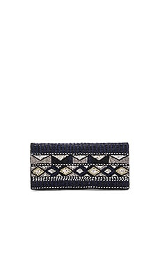 Beaded Clutch in Navy Combo