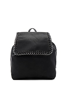 Chain Edge Backpack in Black