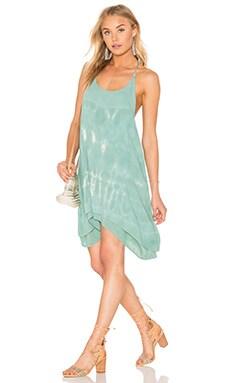 Tie Dye Strappy Dress in Teal