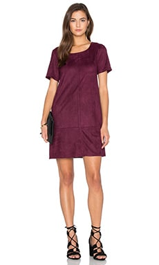 Ivy Suede Shift Dress in Raspberry