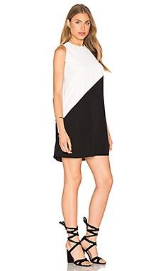 Colorblock Dress in Black
