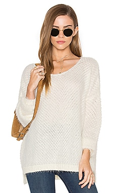 Fluffy Pullover Sweater in White