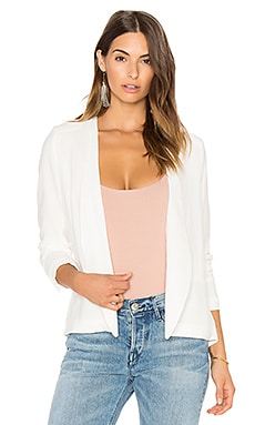 Natalia Back Tie Blazer in White