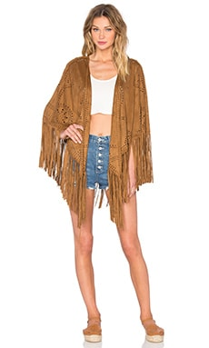 Cut Out Fringe Vest in Escapes