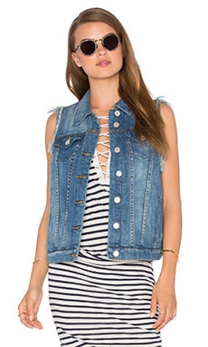 Denim Vest in Mean To Be
