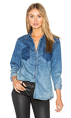 Denim Button Up in Float On