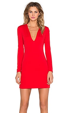 x REVOLVE Long Sleeve Mini Dress in Red