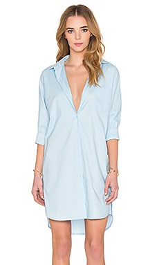 Shirt Dress in Light Blue