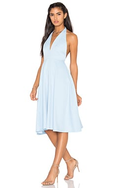 Backless Halter Dress in Sky