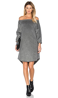 Off Shoulder Dress in Charcoal