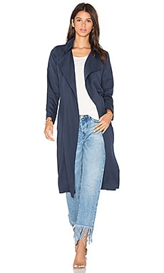 Duster Coat in Dark Denim