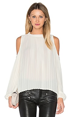 Pleated Blouse in Creme